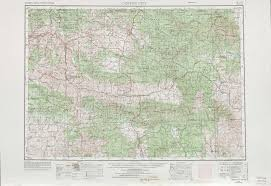 Crater Lake Oregon Map by Canyon City Topographic Maps Or Usgs Topo Quad 44118a1 At 1