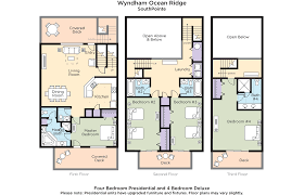 Parts Of A Cathedral Floor Plan by Club Wyndham Wyndham Ocean Ridge