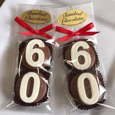 60th birthday party favors chocolate 60th birthday party favors ideas number motive