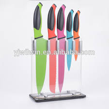 coloured kitchen knives ww ck001a 5 pc non stick colour coating tpr pp handle stainless