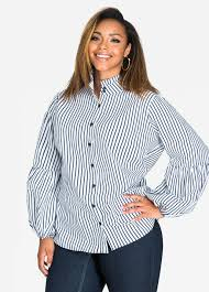buy womens plus size button up shirts ashley stewart