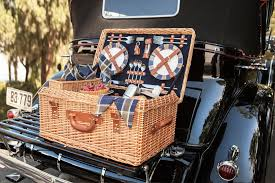 picnic basket set for 4 picnic time style willow picnic basket