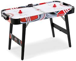 foldable air hockey table md sports easy assembly 48 inch air powered hockey table space