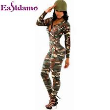 one jumpsuit plus size sleeve rompers womens jumpsuit army soldier catsuit