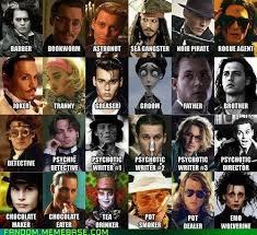Johnny Depp Meme - the many faces of johnny depp geek universe geek fanart
