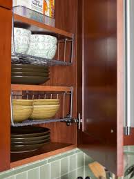 ideas for organizing a small kitchen cabinet space shelves and