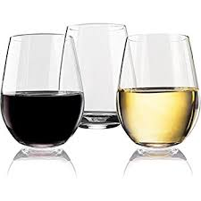 wine glasses vivocci unbreakable plastic stemless wine