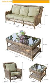 Sofa Set Table All Weather High End Antique Wicker Bird Nest Weaved Rattan Sofa