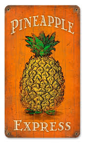 vintage pineapple express metal sign 8 x 14 inches pineapple