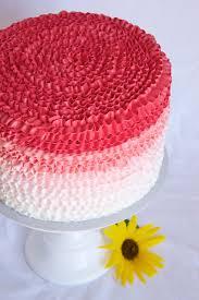 Cake Icing Design Ideas Ombre Buttercream Ruffle Cake Tutorial Icing Designs Pinterest