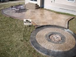 Cement Patio Designs Concrete Paver Patio Ideas Fascinating Concrete Patio Back Yard