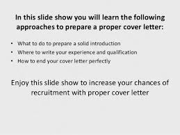 why a proper cover letter is must for