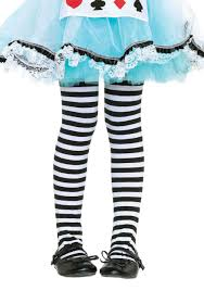 white witch costume kids girls striped witch tights