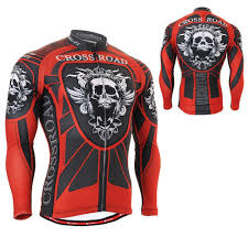 road cycling jacket skull armor full graphic men s long sleeve cycling jersey useful 3