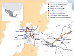 Mexico Toll Road Map by Ohl Group Ohl Concessions