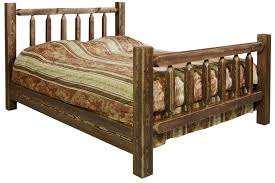 homestead timber frame bed stained lacquered or ready to finish