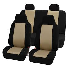7 piece classic cloth auto seat covers for high back buckets