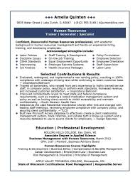 best human resources manager resume example recentresumes com