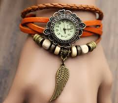 bracelet wrist watches images Handmade leather strap watches woman girl quartz wrist watch