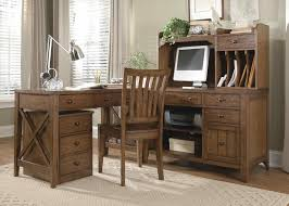 Furniture Unpolished Oak Wood Computer Desk Placed On Light Gray by Drawers Also Decorating Ideas Workspace A Small Table Decorating