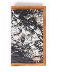 nocona mossy oak men u0027s rodeo wallet checkbook cover fort brands