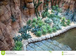indoor garden with pond design stock photo image 63661952