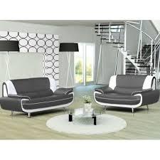 ensemble canapé 3 2 pas cher canapé 3 2 places gris et blanc marita achat vente canapé sofa