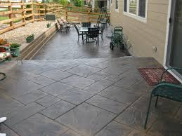 Stamped Concrete Backyard Ideas Stamped Concrete Patio Ideas With Pergola Design Patio