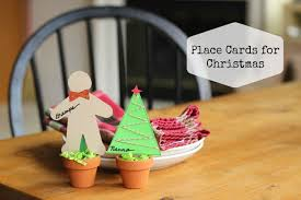 diy christmas name place cards images
