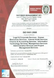 bureau veritas holdings inc iso certification rayomar management inc