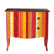 commode peinte rayures good commode rayee multicolore 1 commode à rayures en bois