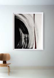 black and white painting ideas original large black and white abstract ink art painting