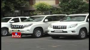 new toyota vehicles kcr convoy new land cruiser prado vehicles for telangana cm