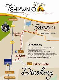 Maps For Directions Tshikwalo Lodge Dinokeng Game Reserve South Africa