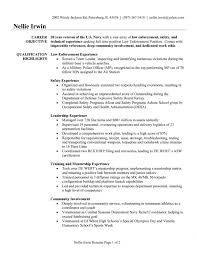 retired police officer resume objective sample job and resume