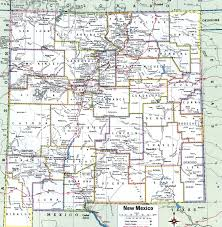 New Mexico County Map by New Mexico County