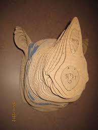 Dinosaur Head Wall Mount Cardboard Trophy Wall Taxidermy Craft And 3d