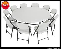 plastic round table and chairs great 6 foot folding table china elegant 6 foot round table folding