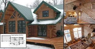 Log Lodges Floor Plans Splendid Log Home For 56 000 Must See Interior And Floor Plans