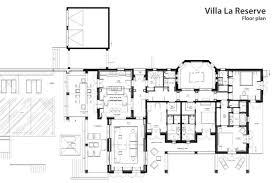 floor plan in french la reserve villa 4 luxury retreats