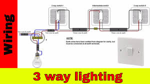 how to wire 3 way lighting circuit youtube