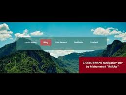 Top Bar Css How To Create Transparent Navigation Bar Html U0026 Css Youtube