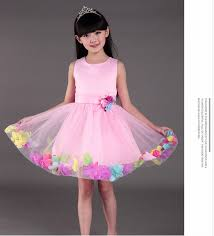 selling europe boutique children flower dress of 9 years