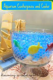 fish bowl centerpieces dreamingincolor fish bowl centerpiece and cooler