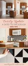 Kitchen Backsplashes Best 25 Vinyl Backsplash Ideas On Pinterest Vinyl Tile