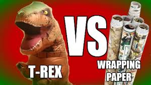 Wrapping Presents Meme - t rex vs wrapping paper epic showdown youtube