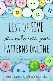 Home Patterns 5 Places To Sell Sewing Patterns Online