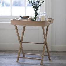 oak hambledon butlers tray table side tables for the garden