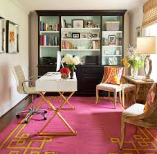 Blue And Gold Home Decor Home Office Pink Rug White And Gold Desk Wood Chairs Blue And