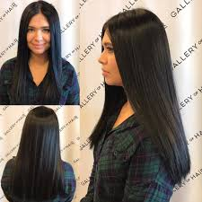 updos for long hair one length women s long sleek one length cut with textured ends and black